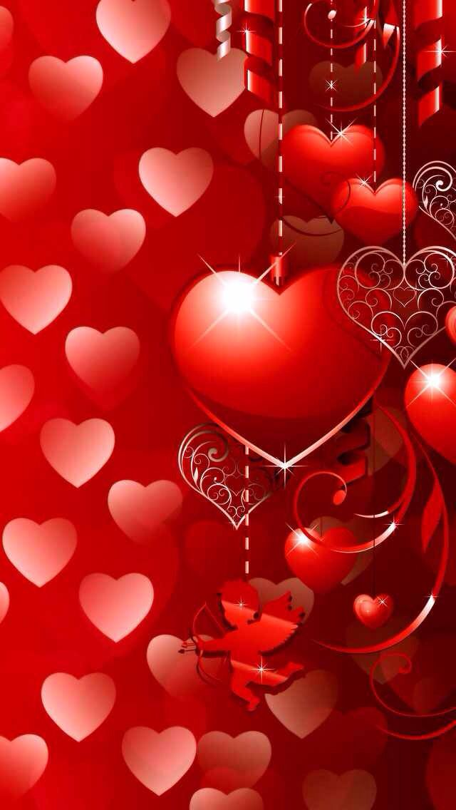 Happy valentines day be my valentine heart wallpaper red wallpaper iphone wallpaper - Cute valentines backgrounds ...