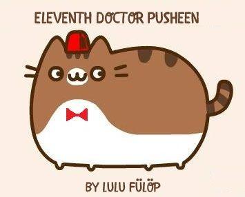 11. doctor - matt smith - pusheen - by Lulu Fülöp #fez #bowtie #doctorwho #mattsmith #pusheen