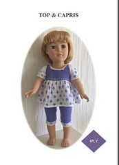 """Ravelry: Top & Capris for 18"""" Dolls pattern by UNA HENDRY"""