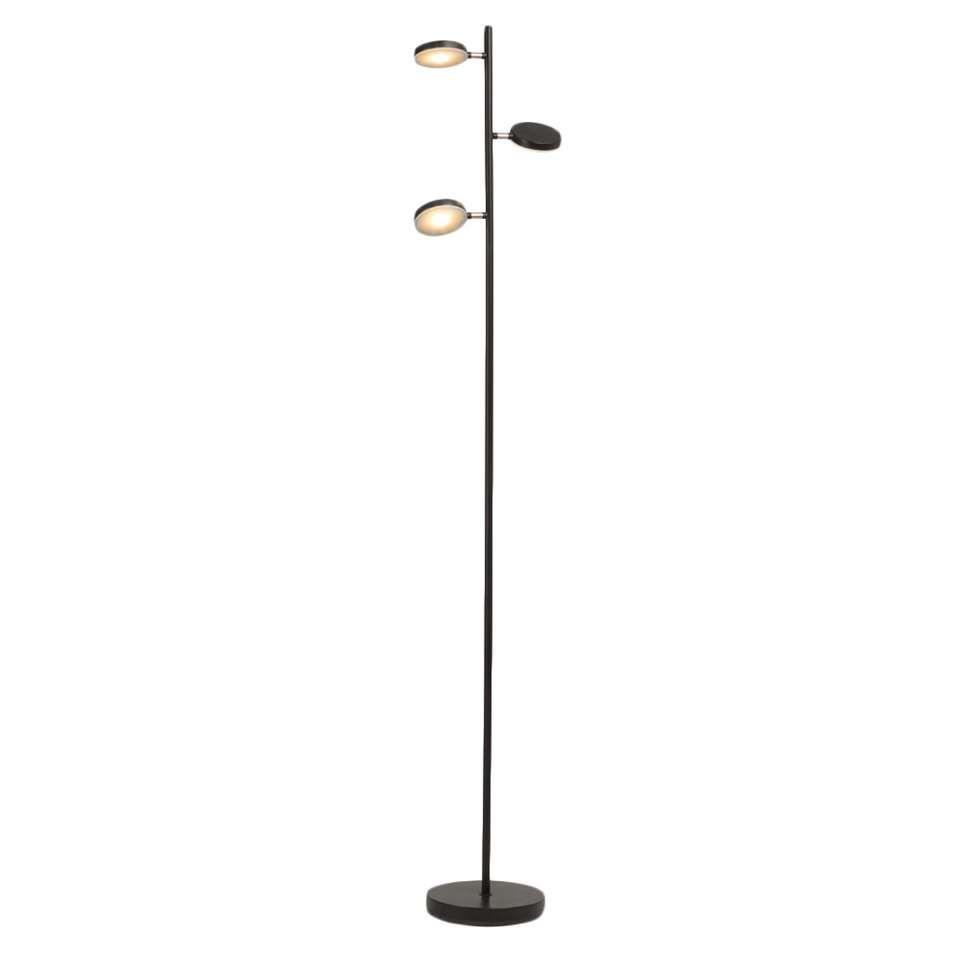 Brilliant vloerlamp Chlea - zwart/koper | Leen Bakker | verlichting ...