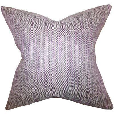 The Pillow Collection Zebulun Woven Bedding Sham Size: Standard, Color: Purple