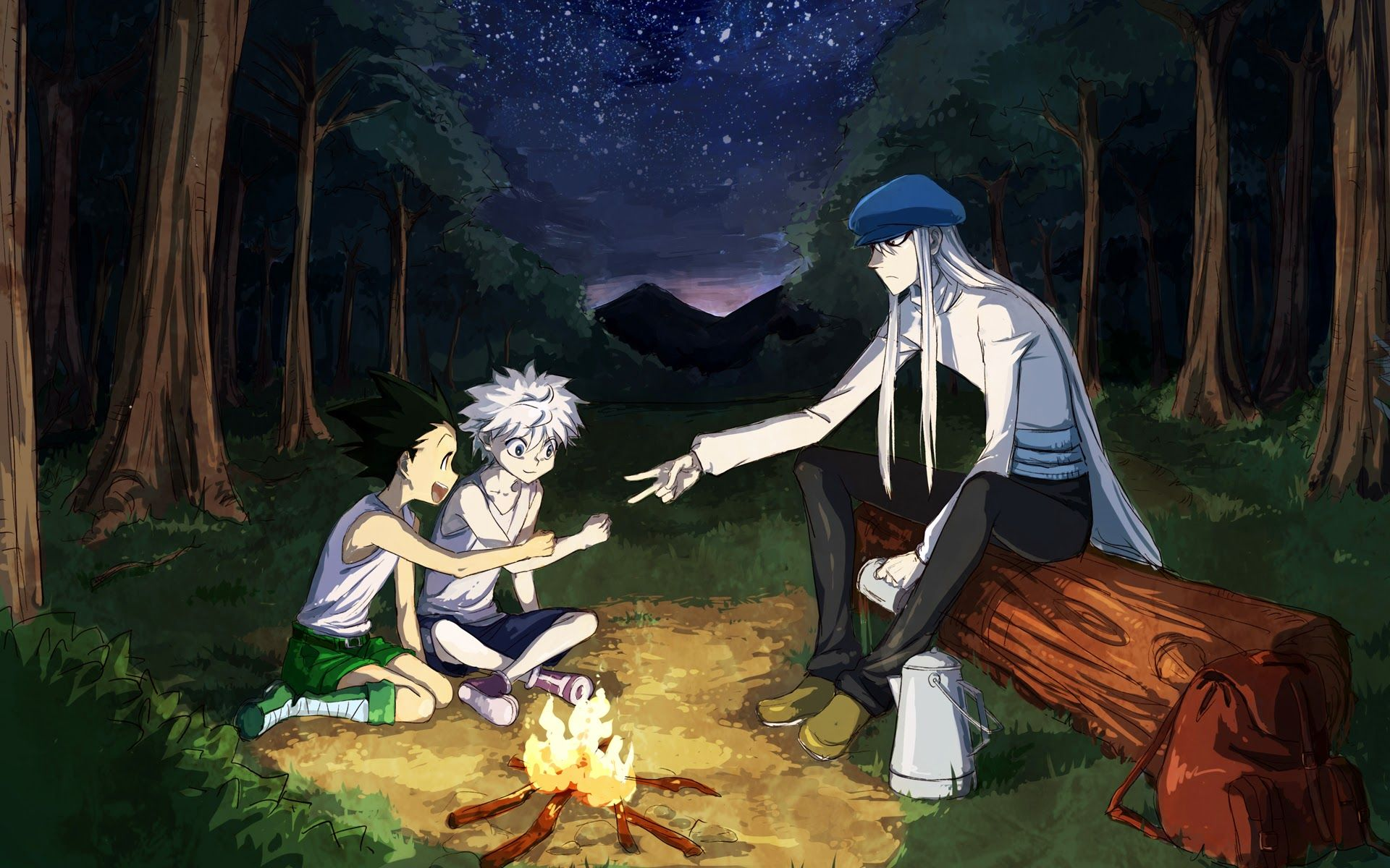 Hunter x Hunter Killua Gon and Kaito Wallpaper Hunter x