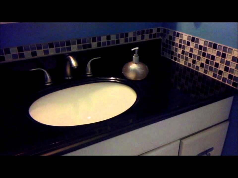 Diy Update Bathroom Vanity Granite Counter Top Easy Affordable