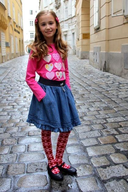 JEansrock Sunny, Shirt Heartbreaker & Dots & Stripes Strumpfhose ♥ Herzilein Wien ♥ #herzileinwien