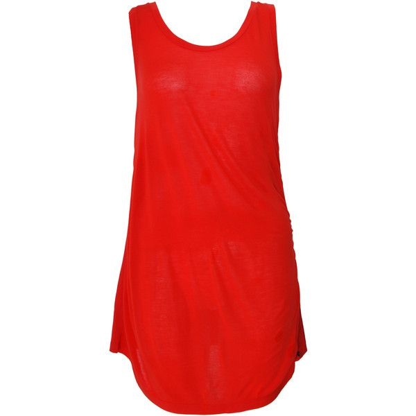 Pre-owned Black Label Paul Smith Sleeveless Top (£30) ❤ liked on Polyvore featuring tops, red, sleeveless tank, red tank, red tank top, red singlet and sleeveless tops