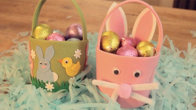 Easter crafts how to make an easter basket from tesco magazine easter negle Image collections