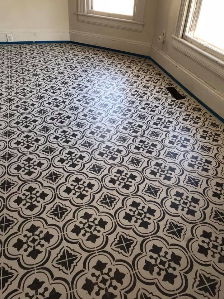 Easy Amp Affordable Floor Project Diy Painted Floor Ideas
