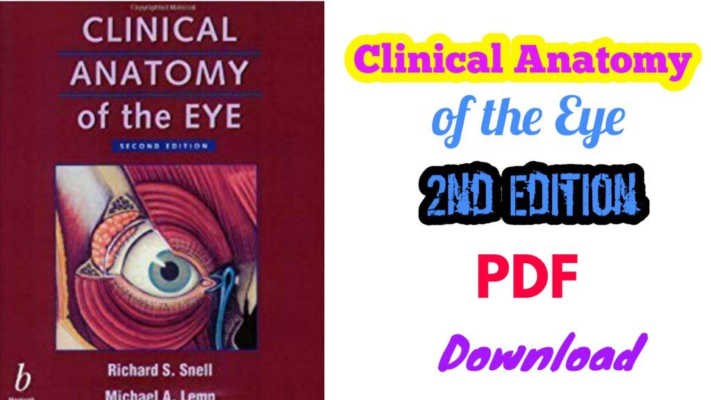 Richard S Snell Clinical Anatomy Of The Eye Second Edition 2e Ebook