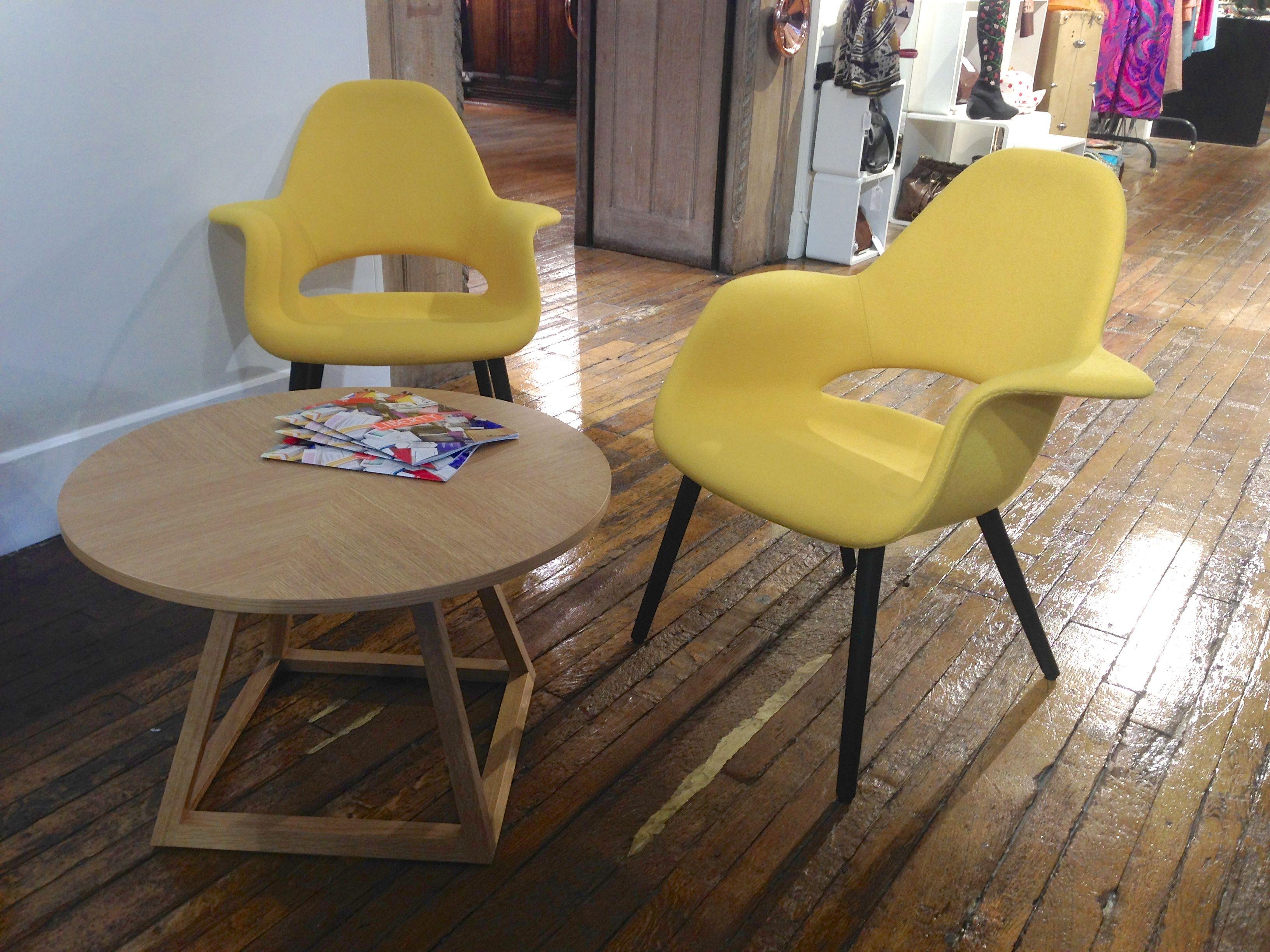 Yellow Vitra Organic Chairs At Liberty, London Libertymid Centuryorganicfreedompolitical