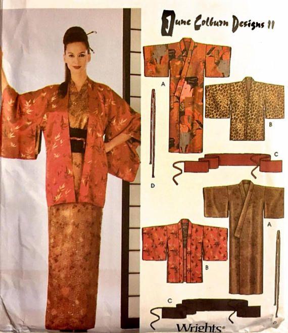0ae8ba18b27 KIMONO Sewing Pattern PLUS SIZE Japanese Costume Haori Obi  patterns4you