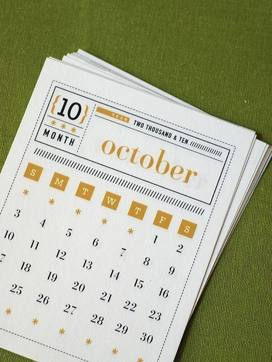 55 Creative And Unique Calendar Designs 플래너 달력 그래픽