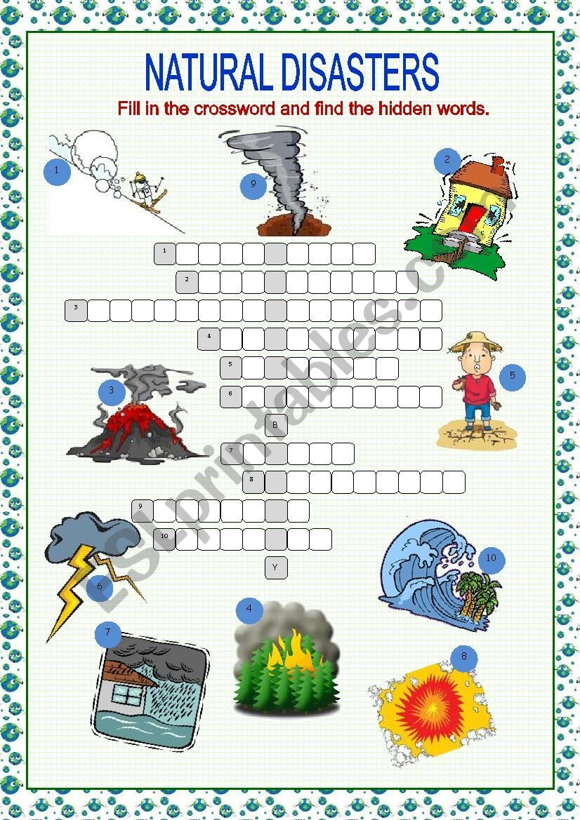 A Crossword Puzzle On Practising Reinforcing Testing Disasters Vocabulary Key Included Natural Disasters Lessons Natural Disasters Natural Disasters For Kids [ 1169 x 826 Pixel ]