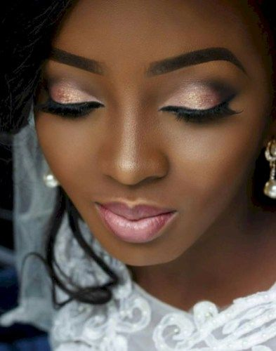 50 Charming Wedding Makeup Ideas for Dark Skin