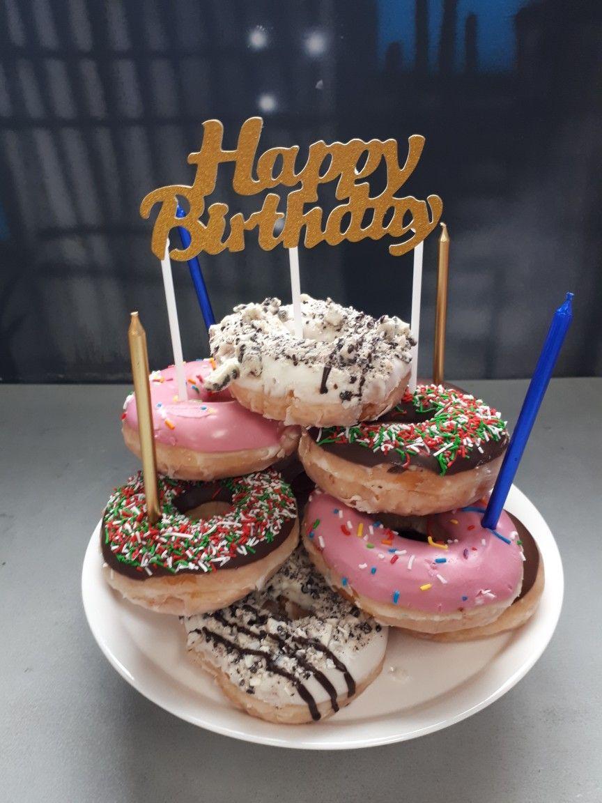 Donut tower birthday cake birthday donuts donut