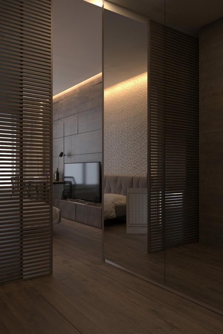 Dunkle Innenarchitektur - zwei Modelle moderner Häuser | Haus