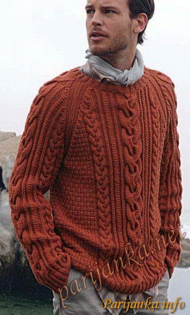 Пуловер с косами (м) 573 Creations 12/13 Bergere de France ...