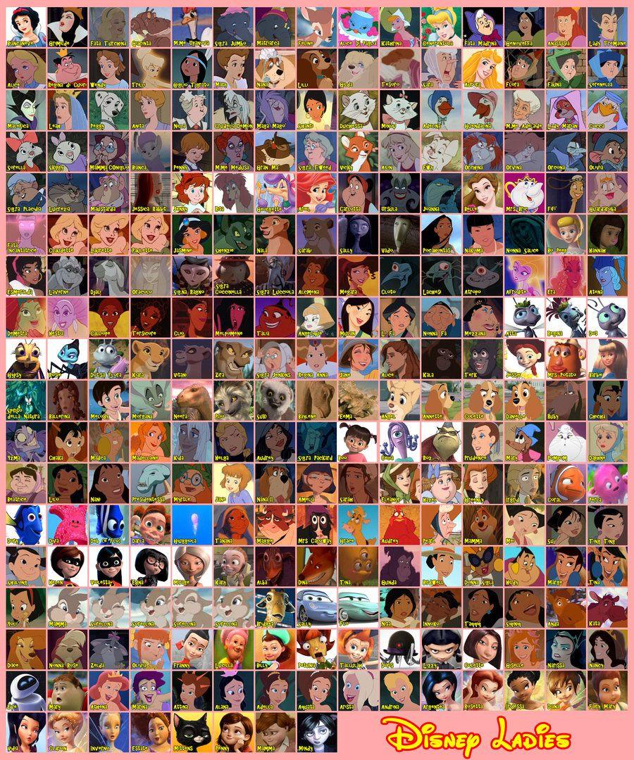All Disney Characters movies tv 2009 2013 simsim2212