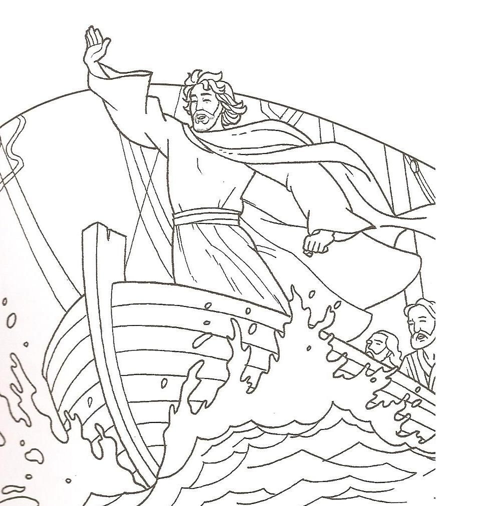 matthew 8 coloring pages - photo#8