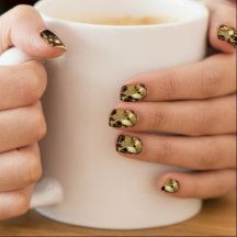 Steampunk Brass Clock Gears and Cogs Fun Design Minx ® Nail Wraps