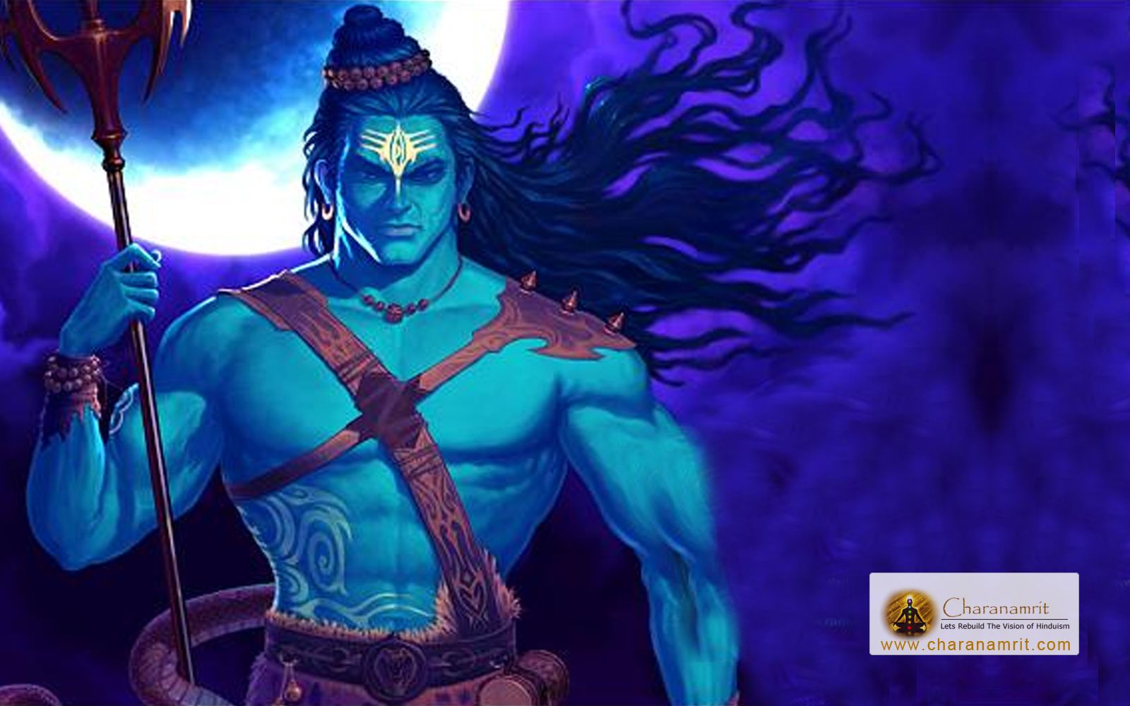 Angry lord shiva blue colour hd wallpaper for free download width