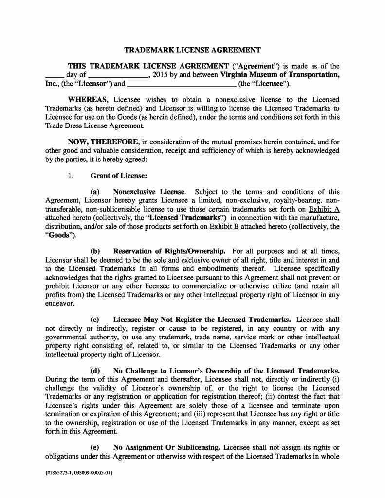 Product Licensing Agreement Template Inspirational Product Licensing Agreement Template New Royalty Free Templates Agreement Free Licensing