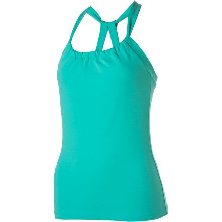 prAna Quinn Chakara Tank Top - Women's.  The prAna Women's Quinn Chakara Tank Top provides not only a form-flattering look but also offers comfort and support while you cross train or hike. Made with Chakara performance fabric, this abrasion-resistant top dries quickly, breathes well, and flatters your physique. This attractive scoop neck top also has a double-strap racerback design and internal shelf bra that provides support and comfort while you practice yoga or play fetch with your dog.