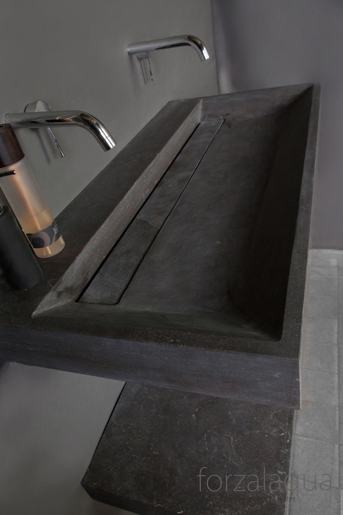 forzalaqua bellezza wastafel hardsteen 100x47x9cm zonder kraangat