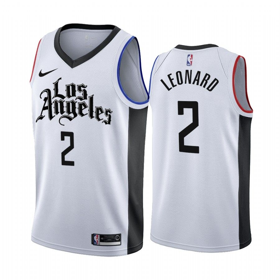 Los Angeles Clippers Kawhi Leonard White 2019 20 City Edition Jersey In 2020 Los Angeles Clippers Nba Jersey White Jersey