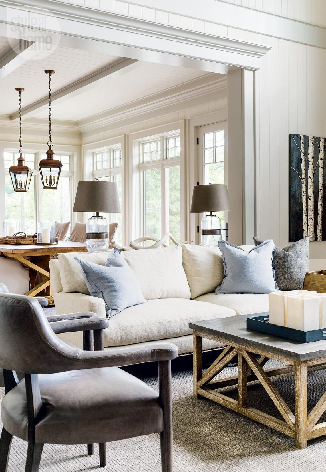House Tour Country Casual Cottage Casual Chic Living Room Chic