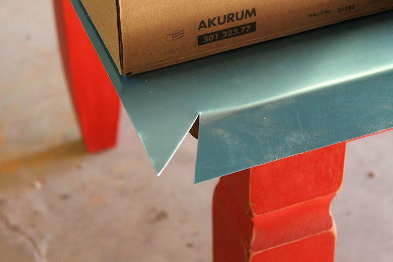 Topping A Table With Zinc Sheet Metal Zinc Sheet