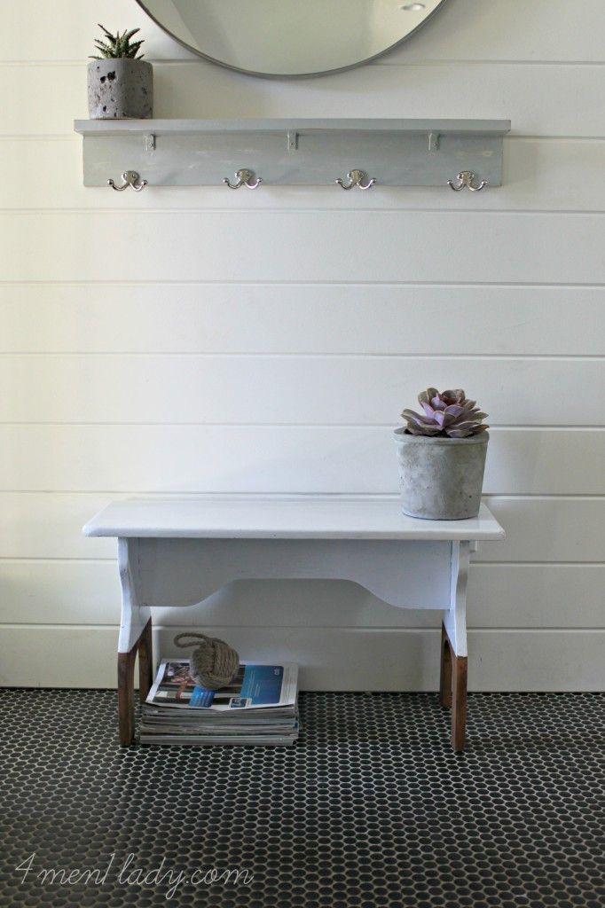 diy two tone painted bench 4 men 1 lady reverse paint dip rh pinterest com