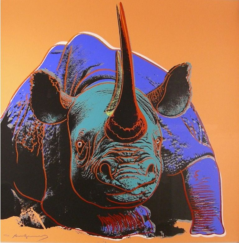 Black Rhinoceros, from Endangered Species   From a unique collection of prints and multiples at https://www.1stdibs.com/art/prints-works-on-paper/
