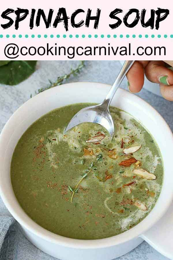 Spinach soup #spinachsoup