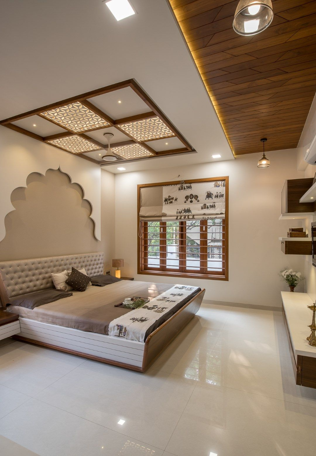 The Contemporary Cubic House | Bedroom false ceiling ...