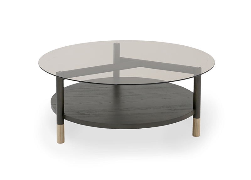 Our Collections Verellen Coffee Table Round Glass Coffee