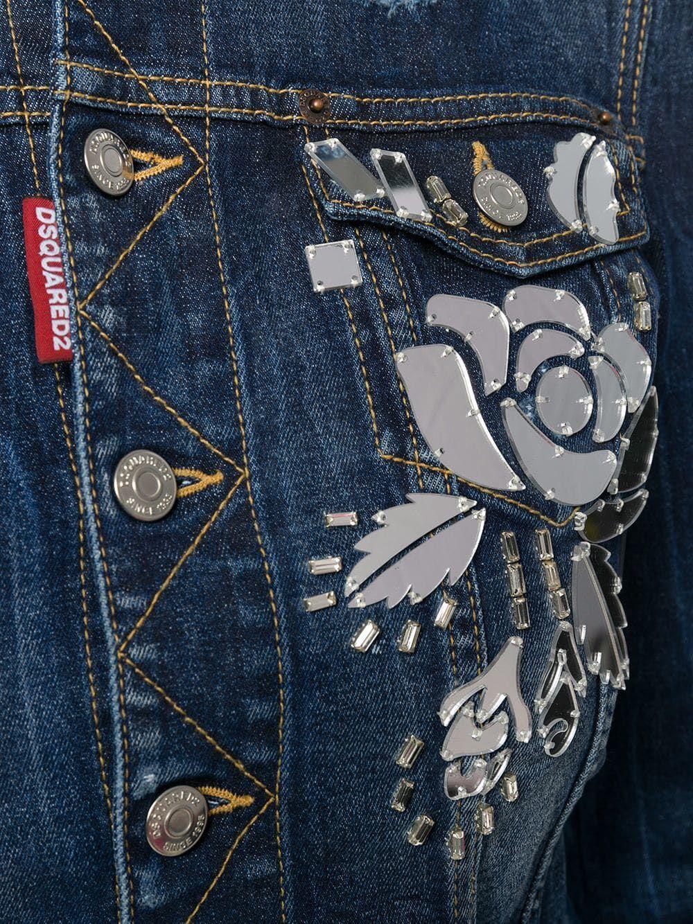 9987ead3be2 Dsquared2 embellished denim jacket