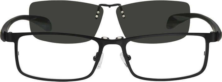 cf4b1a8ecc Stainless Steel Full-Rim Frame with Polarized Magnetic Snap-on Sunlens and  Flexible Plastic Temples