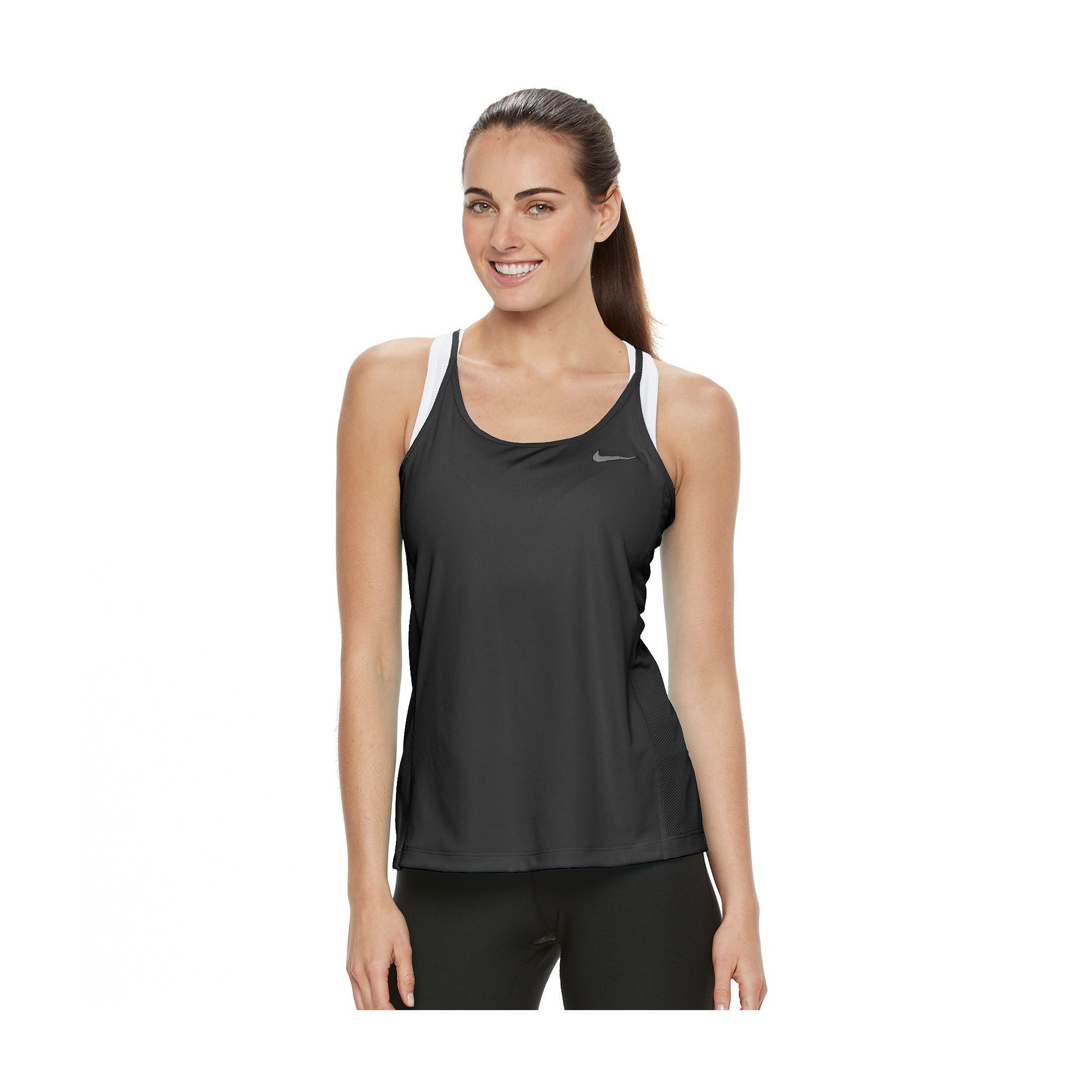 Women's Nike DriFIT Mesh Racerback Tank Top Racerback