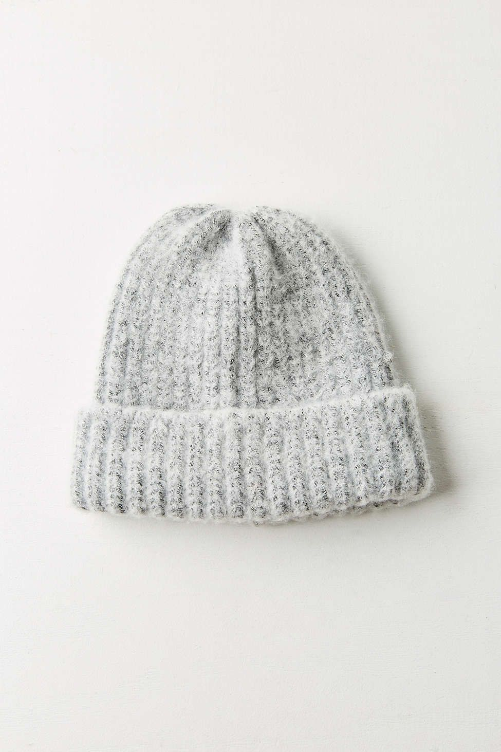 a111b3cb083 Fuzzy Fitted Ribbed Beanie