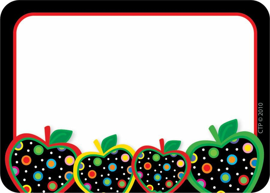 dots on black apples name tags