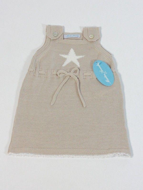 Vestido punto arena estrella Martín Aranda - Ropa de bebés - Les bébés
