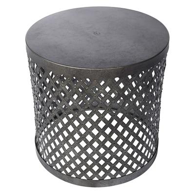 Galvanized Patio Furniture.Allen Roth 17 In Black Galvanized Patio Side Table Desks