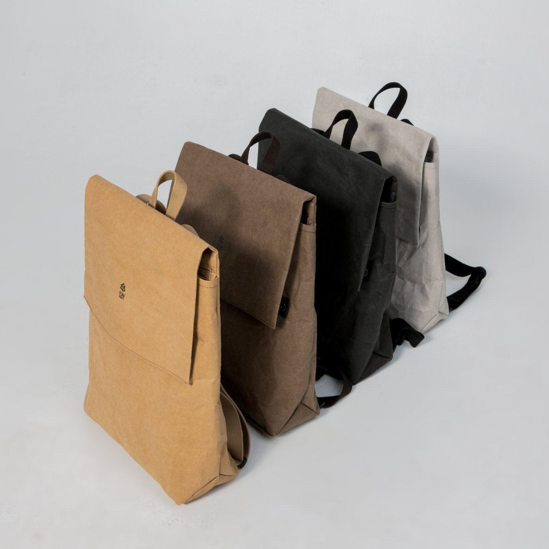 chocolate urban backpack brown uni women men bag eco friendly