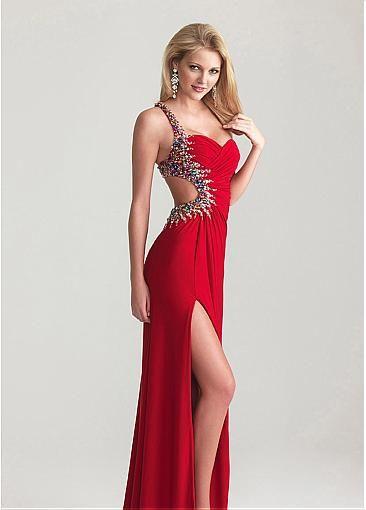 Vestidos de fiesta sexis rojos