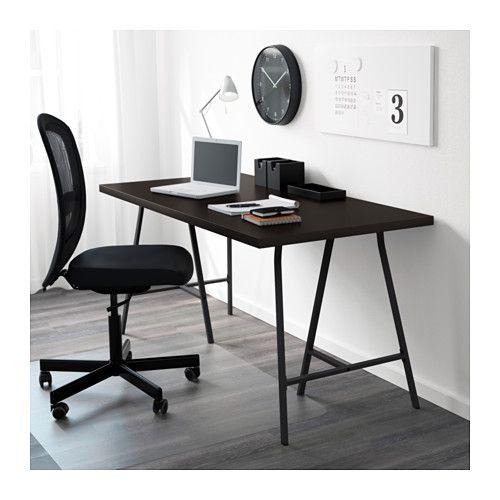 Linnmon Lerberg Bord Svartbrun Gra 150x75 Cm Ikea Micke Desk Ikea Micke Desk Ikea