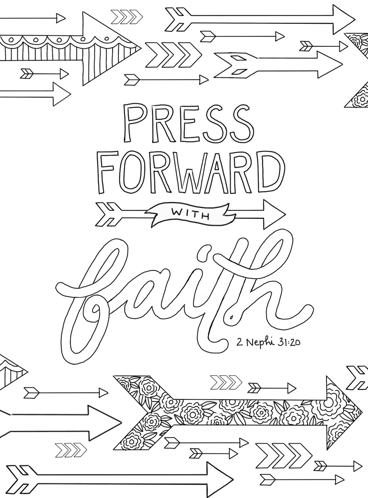 Just What I Squeeze In Press Forward With Faith Coloring Page 3