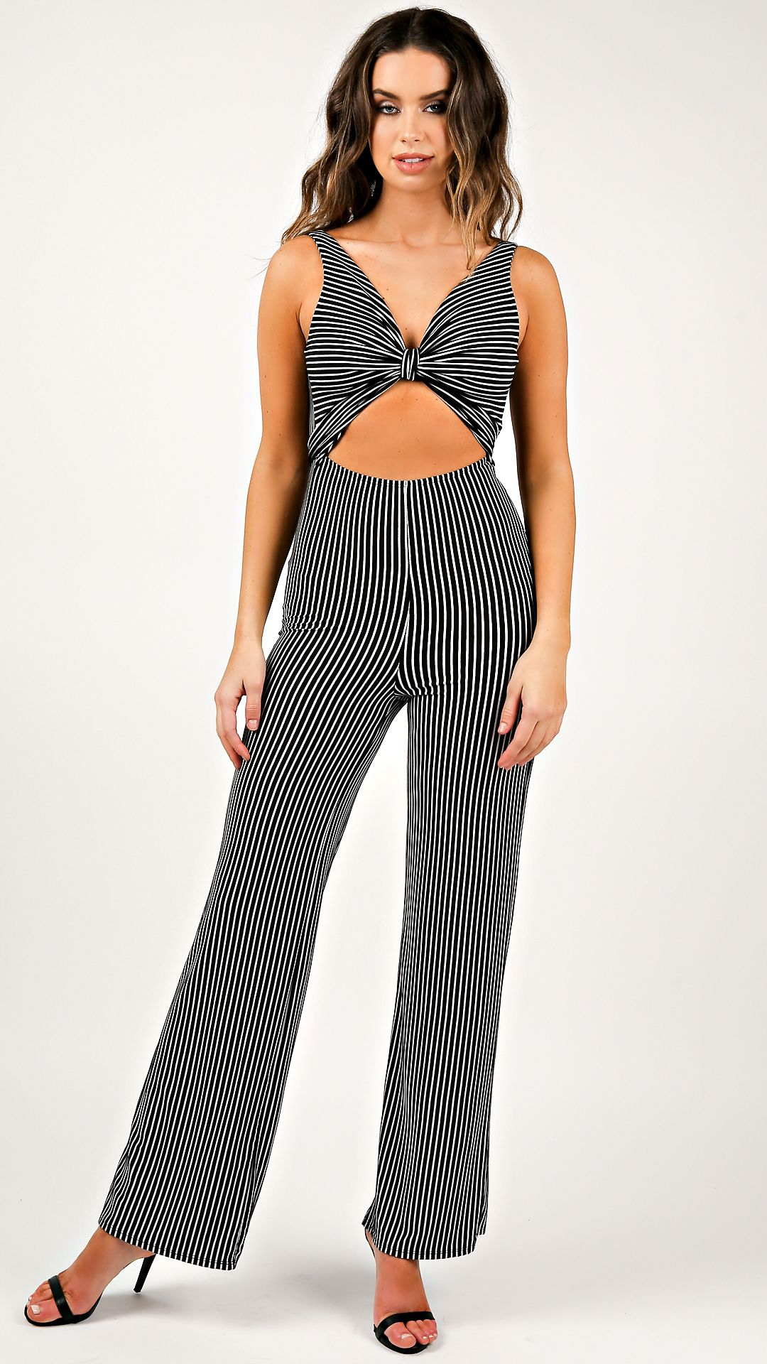 d805a442832 Front Cut Out Striped Jumpsuit in 2019