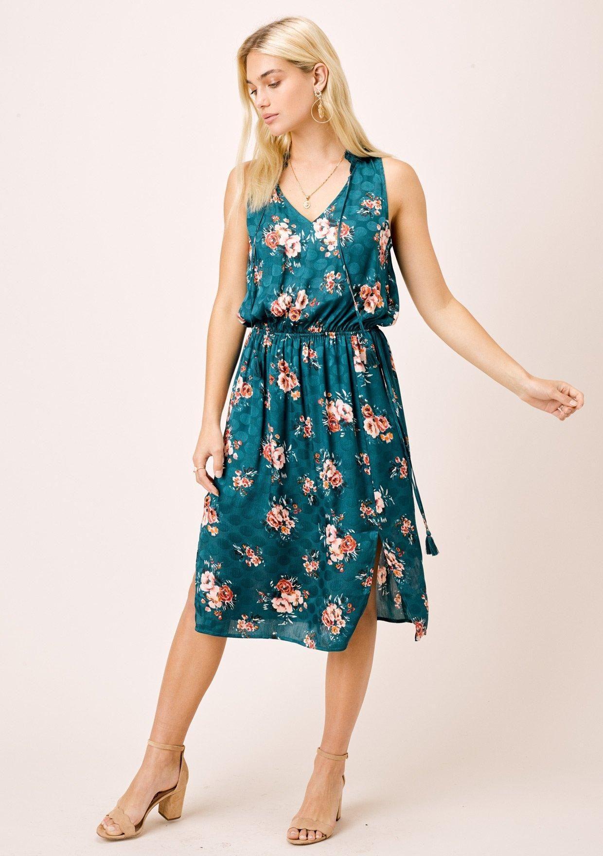 Eliana Floral Midi Dress Lovestitch Floral Midi Dress Midi Dress Mid Length Dresses [ 1760 x 1240 Pixel ]