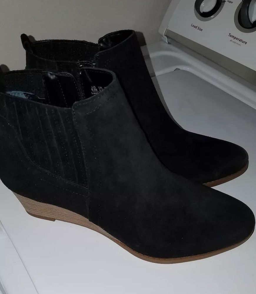 64e768af5c3 Women s Franco Sarto Wayra Black Suede Wedge Booties Boots Size 8.5 NIB New   fashion  clothing  shoes  accessories  womensshoes  boots (ebay link)