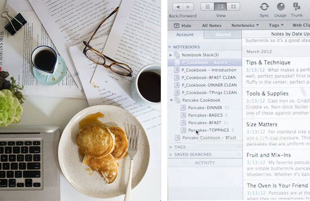 how to write a cookbook with evernote reading and writing